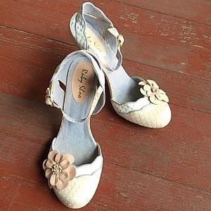 Ruby Shoo polka dot and flower heels